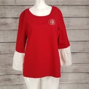 NWT Tommy Hilfiger knit Pullover w faux undershirt